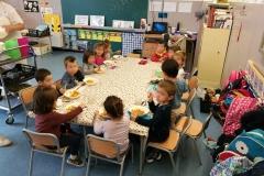 Els alumnes de P3 a la classe